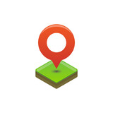 Location Map icon Isometric vector - 157491864