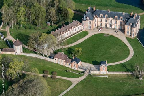 Poster Vue aérienne du chateau de Montigny-sur-Avre en France