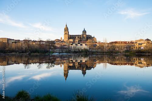 Poster Salamanca, Spagna. Vista dal Rio Tormes
