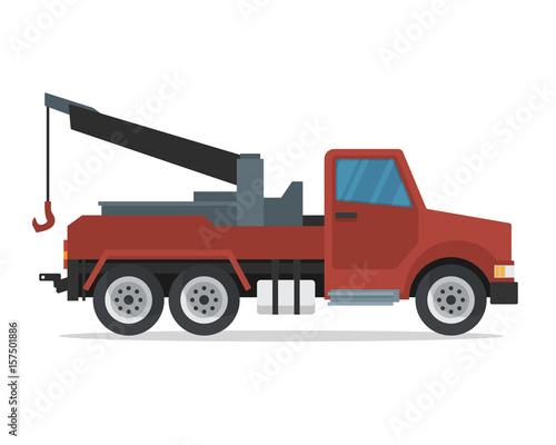 modern flat urban vehicle illustration logo tow truck buy photos