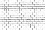 White bricks wall. Seamless pattern background - 157506622