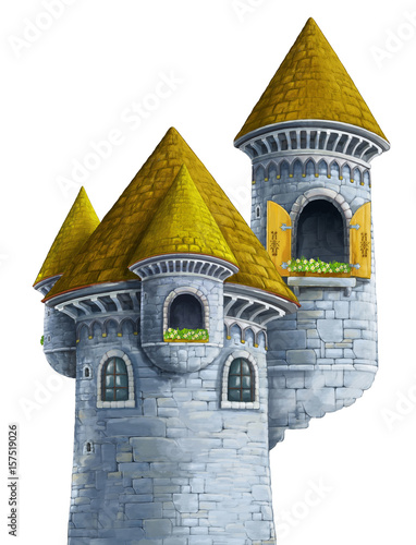 cartoon castle on white background - for different usage - 157519026