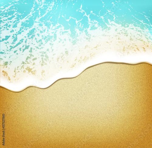 Plażowy tło na wodzie - odgórny widok realistyczny