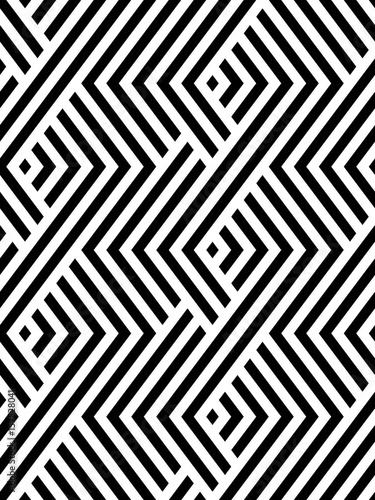 Vector seamless pattern. Modern stylish texture. Monochrome geometric pattern with rhombuses - 157528041
