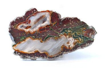 Agate with natural colors, polished cut