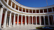 Photo of iconic Zappeion in city of Athens center on a spring morning, Attica, Greece