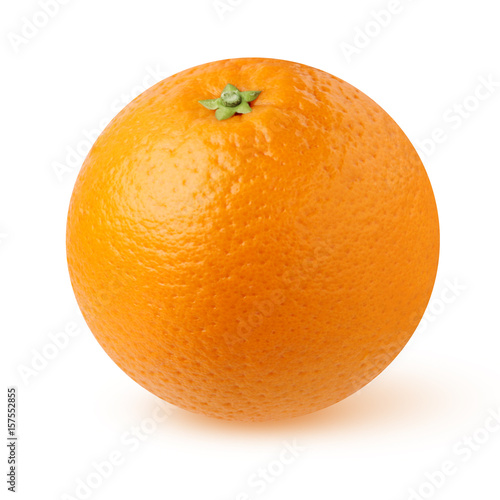 Pomarańcze odizolowywająca na białym tle.