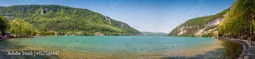 Papiers peints Photos panoramiques Panorama du lac de Nantua