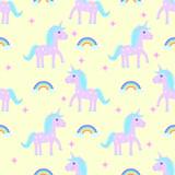 Unicorn pattern seamless vector
