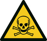 ISO 7010 W016 Warning; Toxic material - 157564666