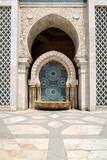 Hassan II Mosque in Casablanca is. Detail of exterior decoration