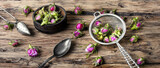 Rosebud.Tea made from tea rose petals