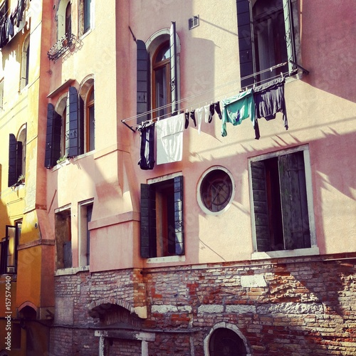 Drying laundry in Venice