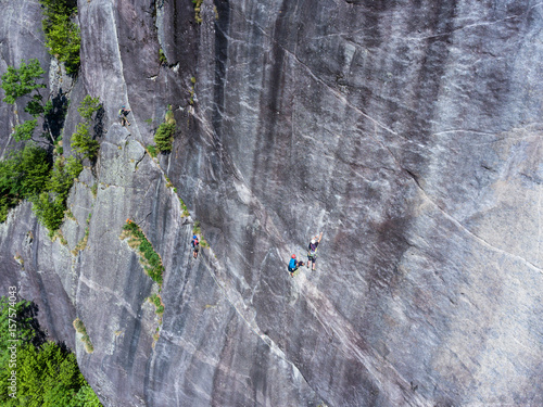 Rock climbing - Climber in Val di Mello - Valtellina Poster