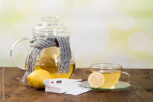 heißgetränk mit zitronen bei grippe