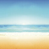 Fondo paisaje de playa