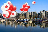 Canada Day Balloons in Vancouver