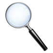 Magnifying Glass With Transparent Realistic Effect