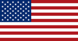 American flag, flat layout, vector illustration - 157598234