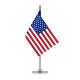 American flag hanging on the metallic pole, vector illustration - 157598238