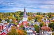 Montpelier, Vermont Town Skyline