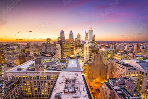 Foto op Canvas Praag Philadelphia, Pennyslvania, USA Skyline