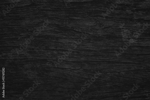 Black wood texture black background. Blank for design - 157611282