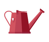 Watering can isolated icon. Planting equipment, agriculture and farming, garden object vector illustration in flat design. - 157614226