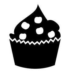 delicious cupcake celebration icon vector illustration design