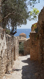 Photo from picturesque and historic fortified medieval city of Monemvasia, Peloponnese, Greece