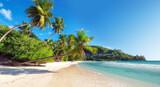 Fototapety Amazing  Anse Takamaka beach on Seychelles.