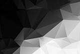 Black and white abstract polygonal background - 157674230