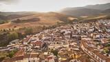 Riogordo white village in Malaga, Spain