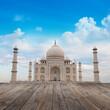 Taj Mahal Agra India with blue sky