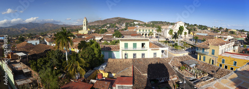 Foto op Canvas Praag Panoramic aerial view on Trinidad with Lucha Contra Bandidos, Cuba