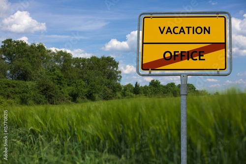 image with word VACATION - OFFICE Poster