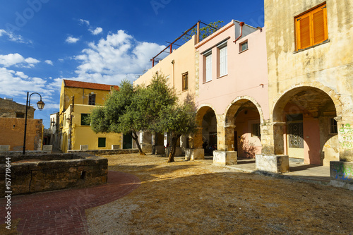 Houses in the old town of Chania in Crete, Greece.