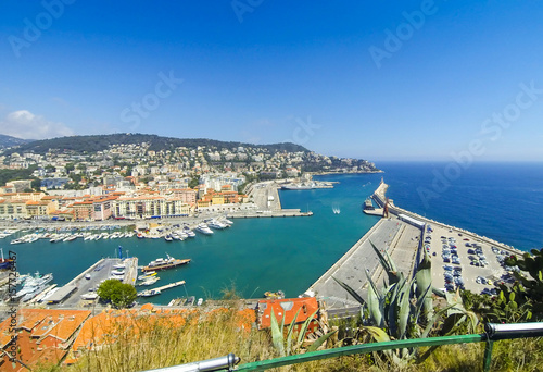 Spoed canvasdoek 2cm dik Nice Aerial View on Port of Nice, French Riviera, France