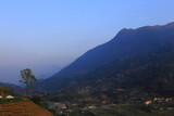 View of mountain with rice terrace in Sapa Vietnam