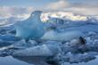 Icebergs in Jokulsarlon Glacier Lagoon, Eastern Iceland, Europe