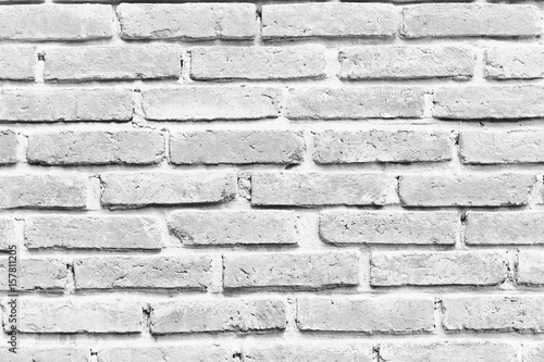 White grunge brick wall for background or texture