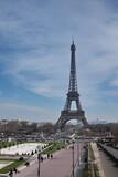 Tour Eiffel et esplanade du Champ de Mars, Paris.