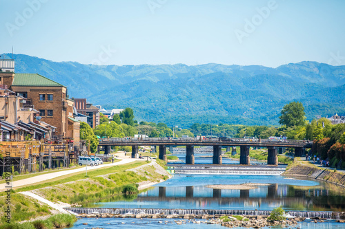 Deurstickers Kyoto 三条大橋