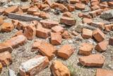 broken bricks and trash
