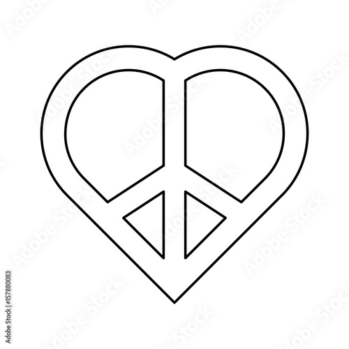 Peace And Love Symbol Icon Vector Illustration Graphic Design Buy