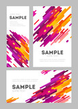 Set of flyer and poster minimalistic flat design. Modern abstract background with geometric elements