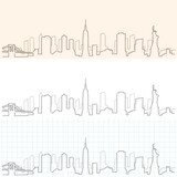 New York Hand Drawn Skyline