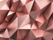 Rose Gold Polygonal Metal Abstract Background 3D Rendering - 157903204