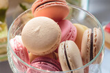 macarons, macaron, background, table, colorful, sweet, macaroon