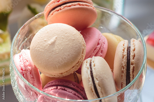 Foto op Canvas Macarons macarons, macaron, background, table, colorful, sweet, macaroon